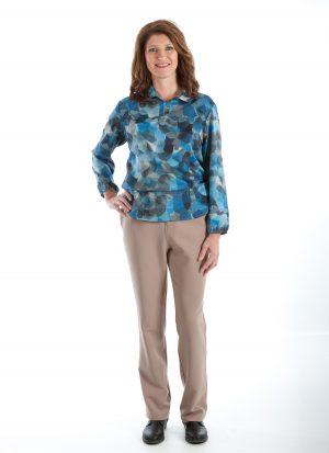 Combi hansop | ritssluiting rug (dames)