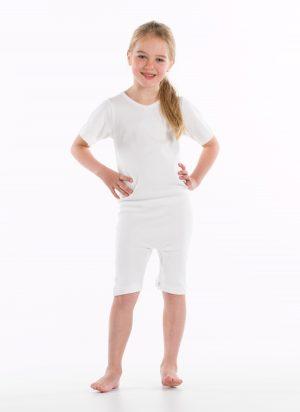 Kinderbody (romper) | ritssluiting rug en kruis | korte pijp (meisjes / jongens)