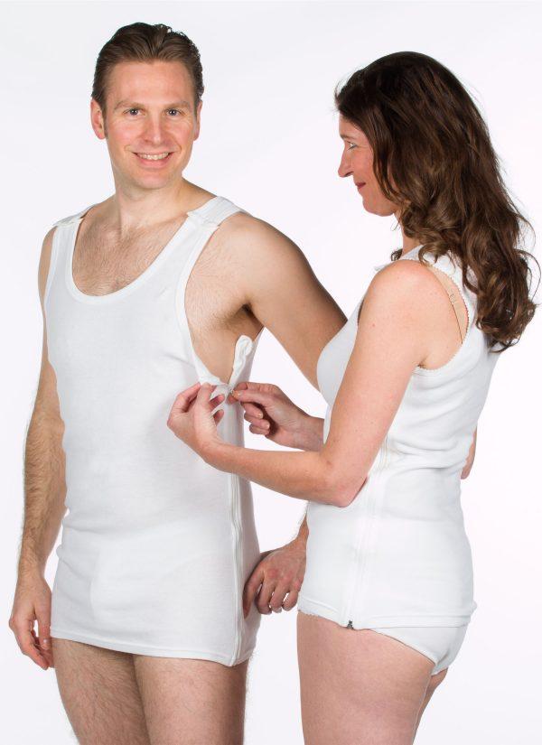 Dames hemd met rits 3010 2