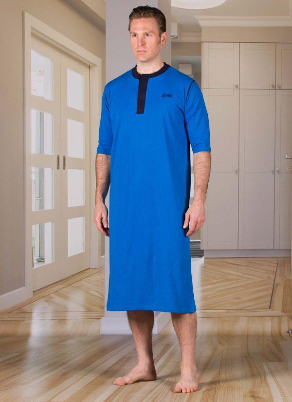 Nachthemd dames en heren nachtjapon met knoopjes ZorgMode 1413 251