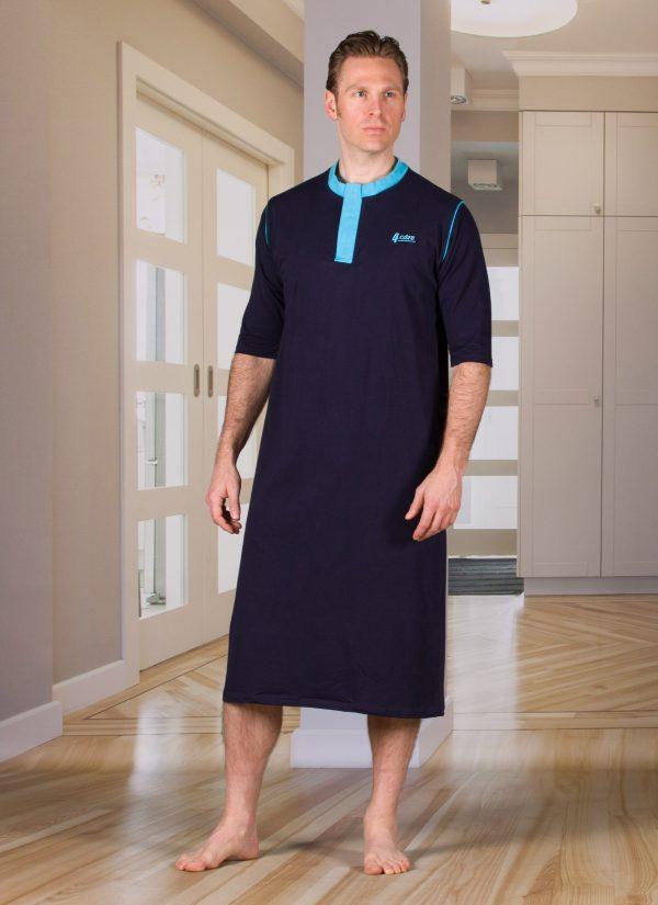 Nachthemd dames en heren nachtjapon met knoopjes ZorgMode 1413 281
