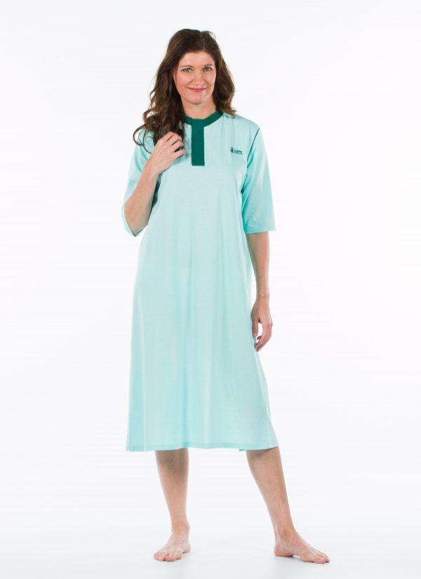 Nachthemd dames en heren nachtjapon met knoopjes ZorgMode 1413 500