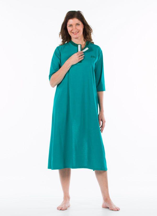 Nachthemd dames en heren nachtjapon met knoopjes ZorgMode 1413 501