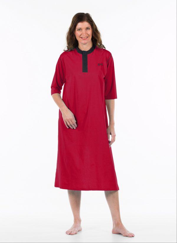 Nachthemd dames en heren nachtjapon met knoopjes ZorgMode 1413 681