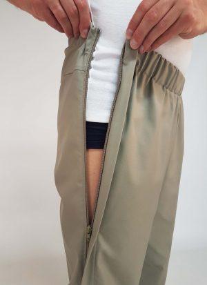 Pantalon heren | broek met rits in pijp | met zitsnit | zonder broekzakken