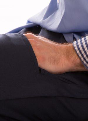 Pantalon heren | broek met rits in pijp | met zitsnit
