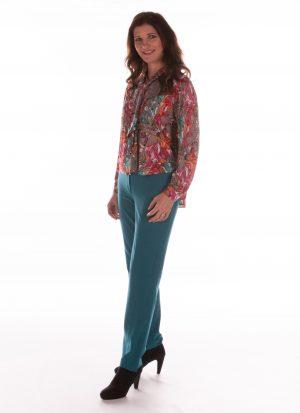 Pantalon dames | broek met rits in pijp | met zitsnit | zonder broekzakken