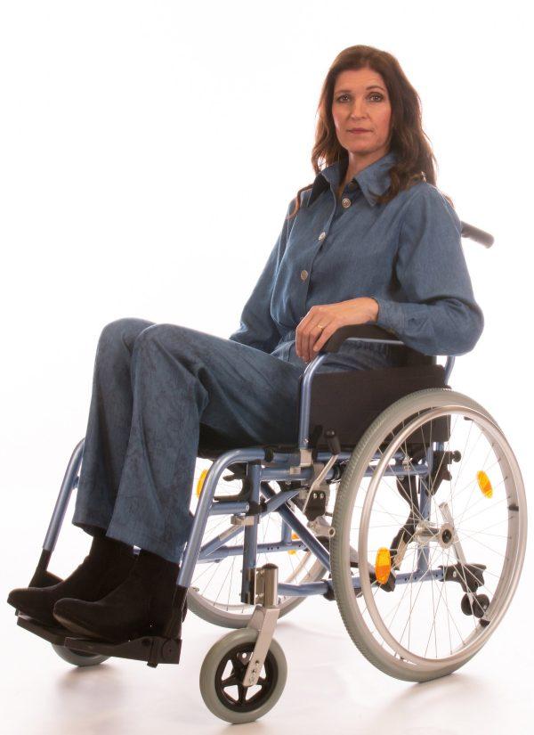 Dames broeken met elastische band - pantalon dames - 7183.1