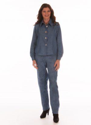 Dames pantalon met elastiek | met zitsnit | zonder broekzakken