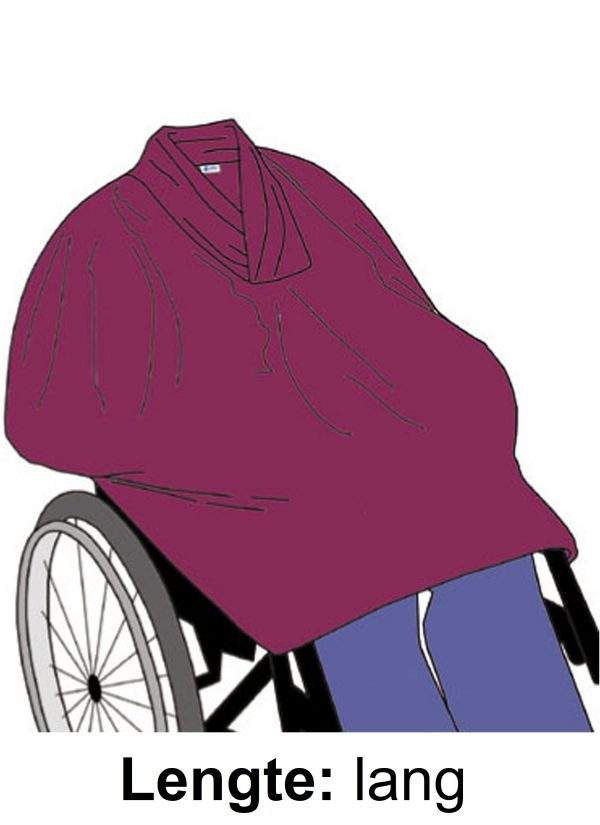 Fleece cape lengte lang - zorg mode 7387