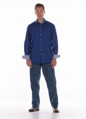 Heren pantalon met elastiek | met zitsnit | zonder broekzakken