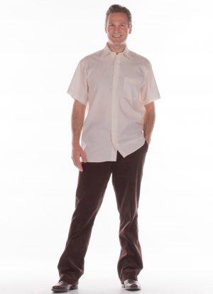 Heren pantalon met elastiek | met zitsnit