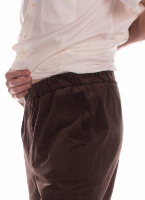 Heren pantalon met elastische band | zonder zitsnit