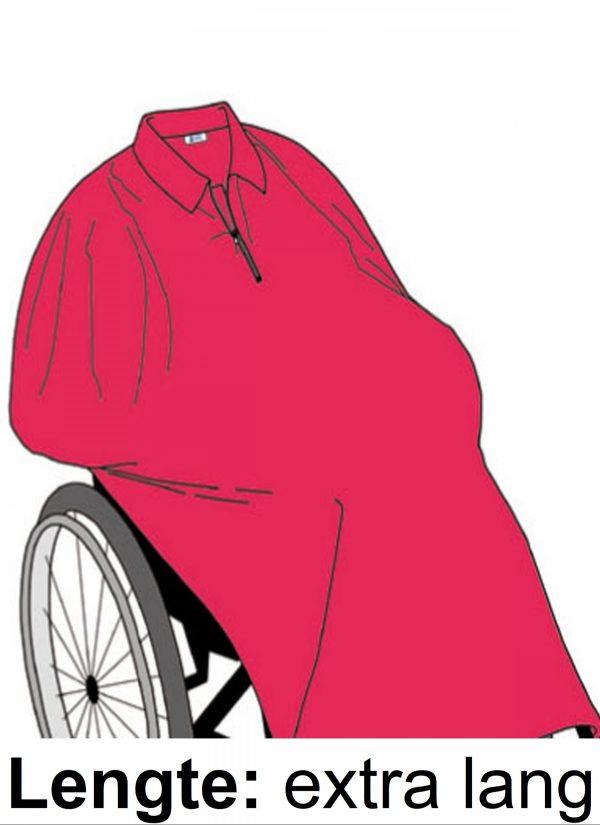 Poncho cape lengte extra lang - Zorgmode 7397
