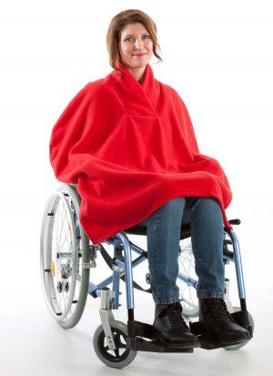 Fleece poncho met shawl kraag | zonder mouwen