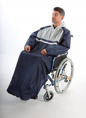 Regencape voor rolstoelgebruikers