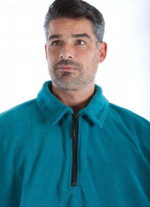 Poncho fleece met hals rits | zonder mouwen