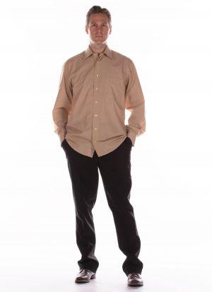Heren pantalon met klep als sluiting | zonder zitsnit
